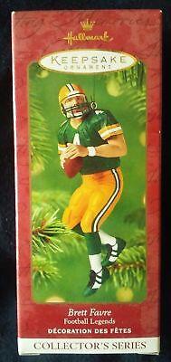 * Brett Favre * Green Bay Packers Hallmark   Ornament New in Box Hard to (Brett Favre Green)