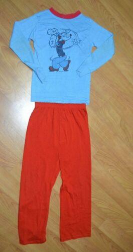 Vintage OG 70s 80s Popeye 2 Piece Pajamas Set Youth Medium 12-14 RARE