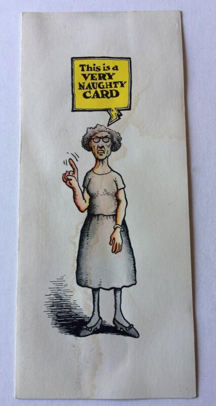 1968 Birthday Card Robert Crumb Art American Greetings