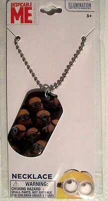 DESPICABLE ME Minions Made Dog Tag Style Necklace w/ Chain - FREE U.S. Ship ! ()