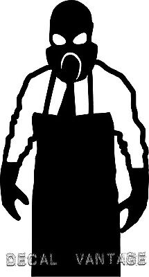 Creepy Gasmask Man Military JDM Vinyl Sticker Decal- Choose Size & Color (Creepy Gasmask)