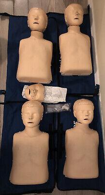 4 Laerdal Little Junior Resusci Emt Q-cpr Child Training Mannequin Manikinbags