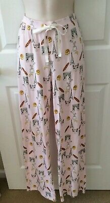 Eiffel Tower Pajamas (NEW Isaac Mizrahi Size M Pink Pajama Lounge Pants Eiffel Tower Cotton Modal)
