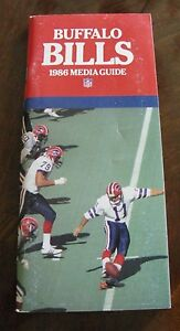 Vintage-Football-1986-BUFFALO-BILLS-Media-Guide-Rare-NFL