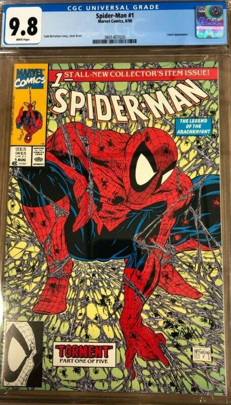 Spider-Man #1 CGC 9.8 - Todd McFarlane Cover & Art (Marvel Comics, 1990)
