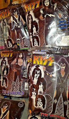Officially licensed Kiss the Demon/Spaceman/Catman/Starchild Adult Costume  New