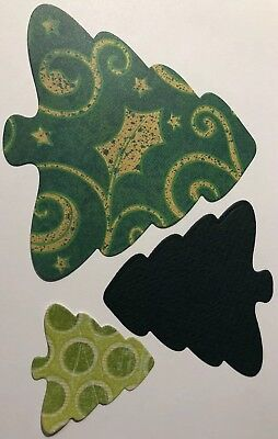 HOLIDAY EVERGREEN TREE Die-cuts 3 Sizes(6pc)Christmas•Redwood•Pine•Made In USA