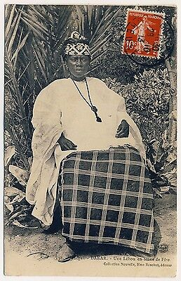 SENEGAL FRAU IM FESTGEWAND WOMAN IN FESTIVE WEAR L BOU VINTAGE 1910S PC