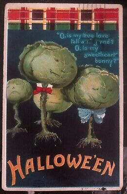 1910 New York Usa Picture Postcard PPC Cover Halloween Is My True Love