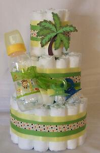 3 tier diaper cake monkeys w fisher price access baby