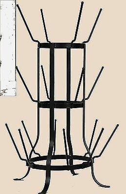 Unique Vintage Wine Bottle Mason Jar Juice Cup Holder Dryer Rack Stand 16 Piece