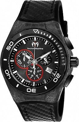 Technomarine Men's TM-116004 Black Carbon  Swiss Chronograph New 2017 Model