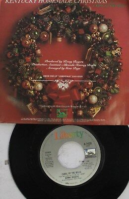 Christmas Picture Sleeve 45 Kenny Rogers - Carol Of The Bells / Kentucky Homemad Christmas Carol Of The Bells
