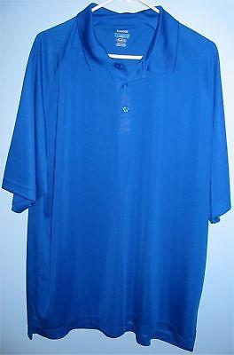 1bf41143 Men's XL Reebok PlayDry Body Map Golf Shirt Royal Blue