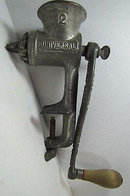 Antique L.F.&C. Universal Meat Grinder #2 New Britain Conn old farm kitchen tool