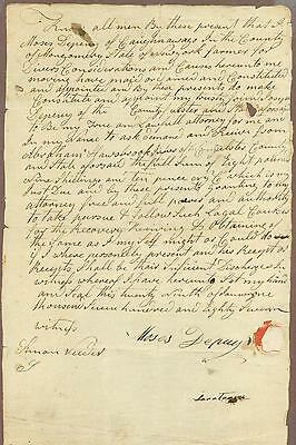 American Colonial Era Manuscript Document, New York State, 1787, Caughnawaga