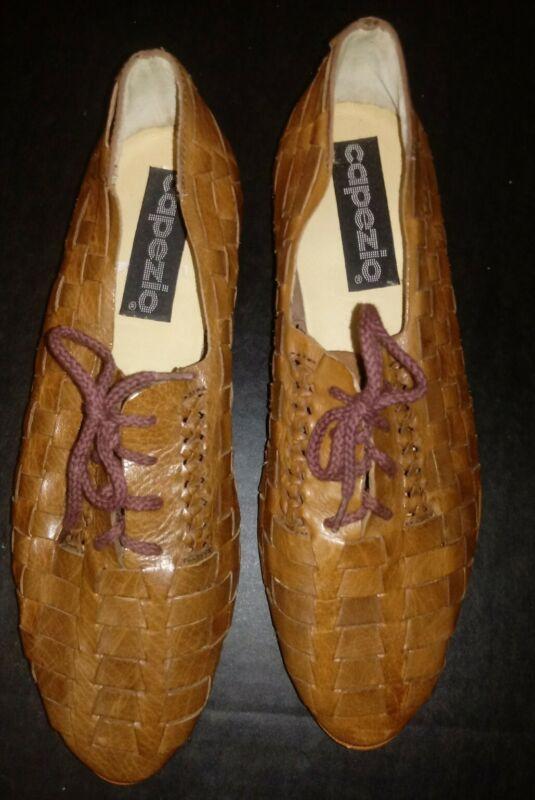 Capezio Dance Shoe  Mens Size 8  Braided Leather - Congac Color