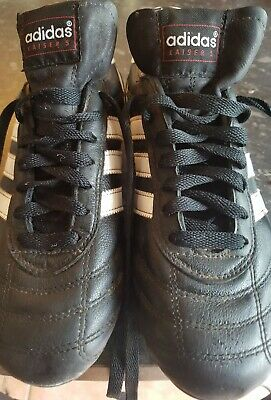 Adidas Kaiser 5 Cup Football Boots Leather Size 7 Black