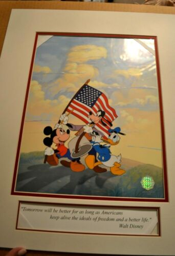 "MICKEY, GOOFY, AND DONALD - ""SPIRIT OF AMERICA"" SERICEL INCLUDES COA"