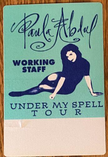 PAULA ABDUL Under my Spell 1991 unused Satin Concert working staff RARE Pass