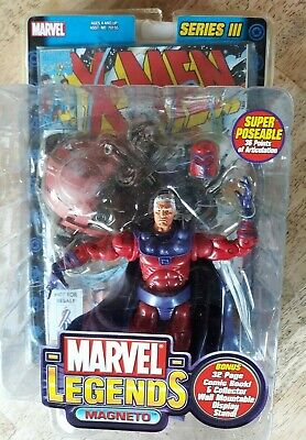 Marvel Legends Magneto Series III 3 Action Figure Toy Biz w/comic book