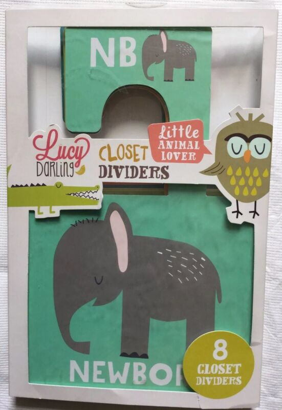 Lucy DARLING CLOSET DIVIDERS Little ANIMAL LOVERS 8 Hangers