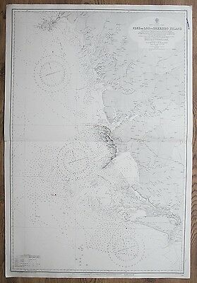1924-25 AFRICA ILES DE LOS TO SHERBRO ISLAND VINTAGE ADMIRALTY CHART MAP
