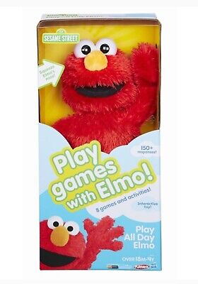 Play All Day Elmo Interactive Doll Toy Soft Stuffed Play Games Electronic NIB