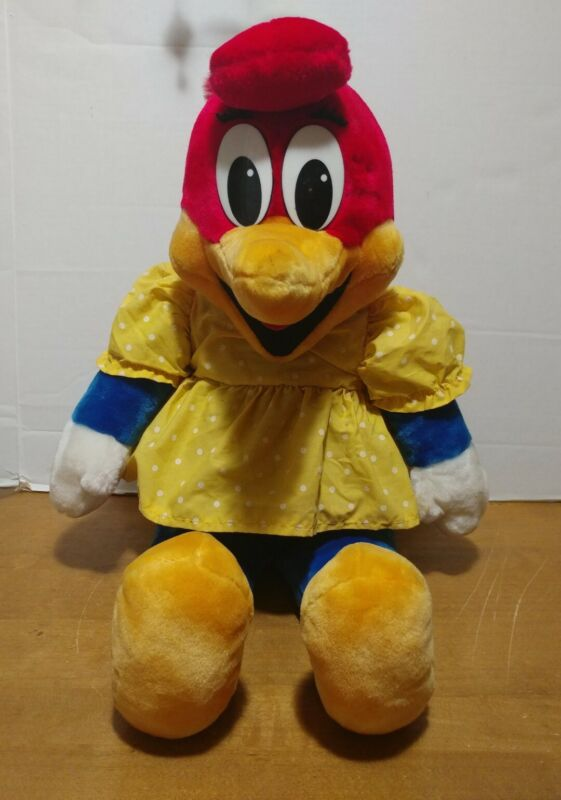 1989 Winnie Woodpecker Plush Stuffed Animal Woody Woodpecker Girl Dress 25""