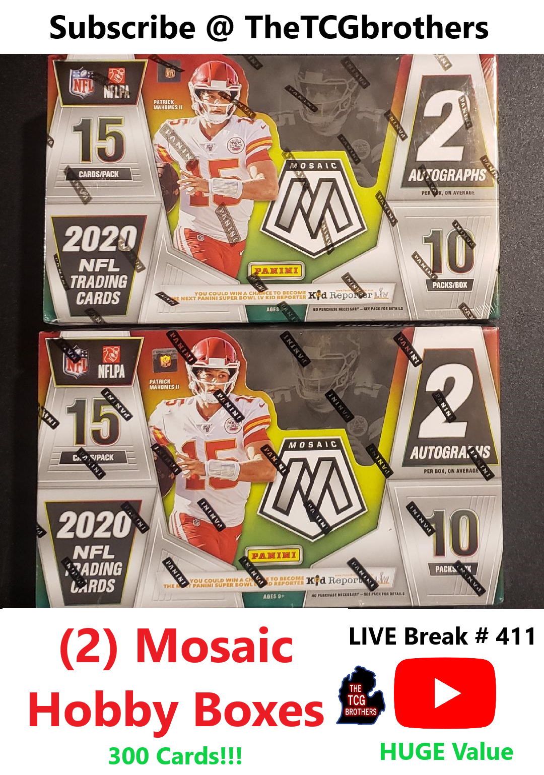 New England Patriots Break 411 Mosaic Football Hobby Box X 2 Read Burrow Tua - $41.00
