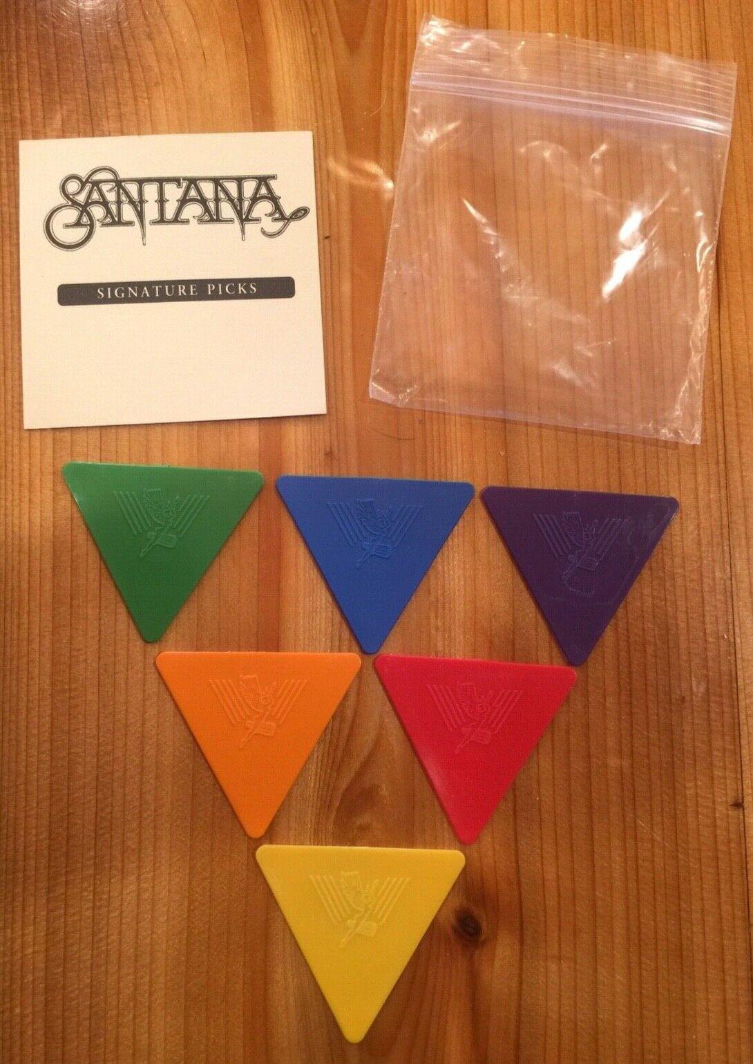 Carlos Santana GUITAR PICK SET Of 6 Different PICKS Tour VIP PRS Paul Reed Smith - $79.99