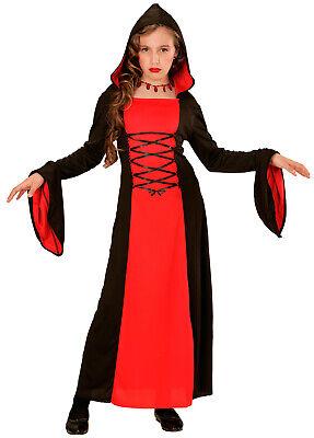 Gothic Vampirlady Kinderkostüm NEU - Mädchen Karneval Fasching Verkleidung - Gothic Mädchen Kostüm