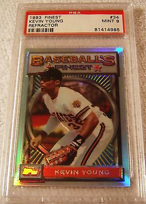 KEVIN YOUNG 1993 TOPPS FINEST REFRACTOR 34 PSA 9 MINT VERY RARE PIRATES - $131.25