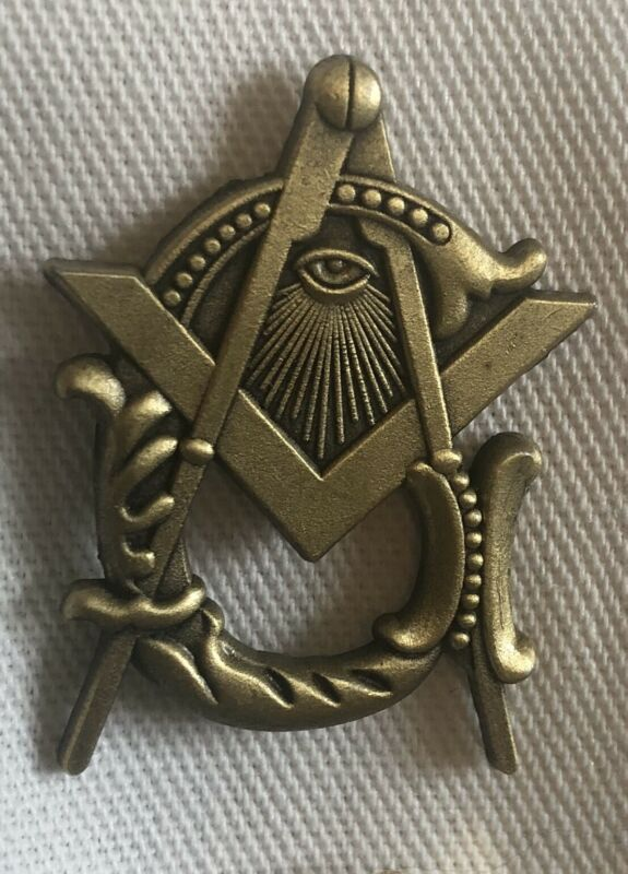 Masonic G Antique Gold Lapel Pin Rare