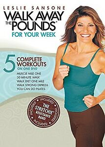 Leslie Sansone WALK AWAY THE POUNDS FOR YOUR WEEK (DVD) workouts WITH BAND NEW