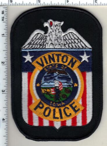 Vinton Police (Iowa)  Shoulder Patch - new from 1993