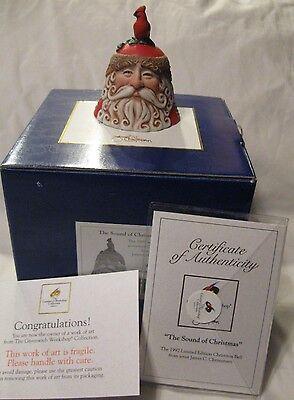 1997 Porcelain Christmas Bell by James C. Christensen Sound Of Christmas NIB COA
