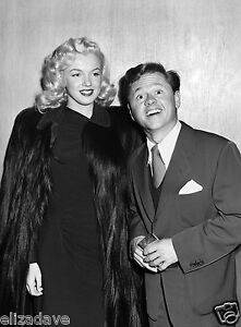 MARILYN MONROE and Young Mickey Rooney Candid Rare 8x10 Photo
