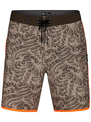 Hurley Herren Phantom Kanpai 18 Boardshorts 28 38 Khaki Orange Neu ()
