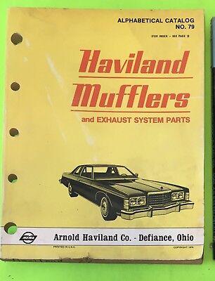 Muffler catalog, Haviland, 1979.    Item: 9031a