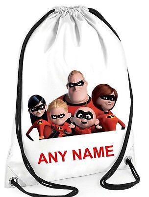 Jungen Mädchen Personalisiert Incredibles Sporttasche The World Schwimmen Pe