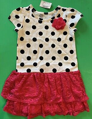NEW! TCP Baby Girls Polka dot lacePink White Dress Shirt 3T Gift CUTE SS EASTER](Girls Easter Gifts)