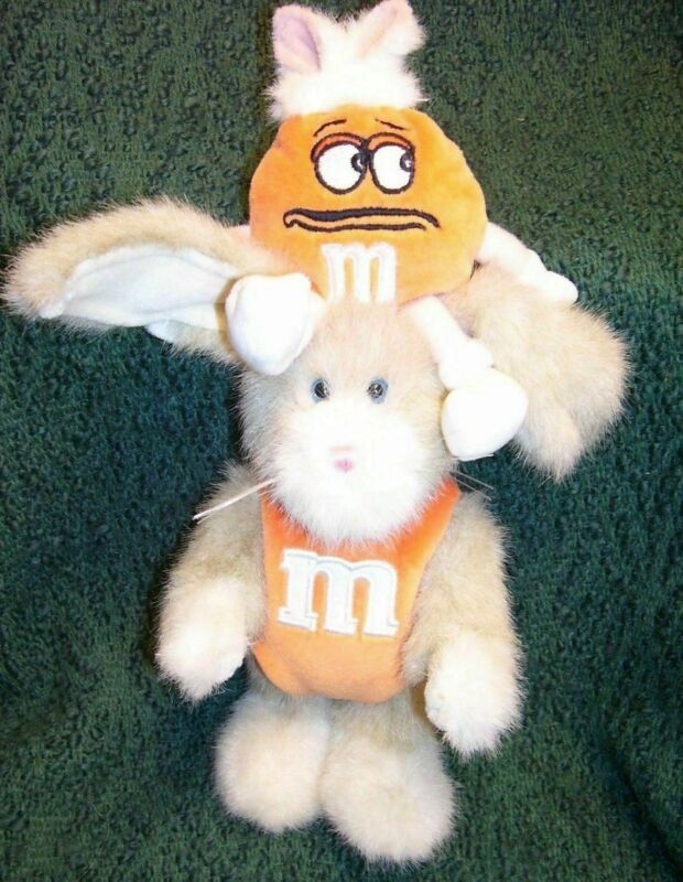 BOYDS EASTER PLUSH BUNNY - M&M COLLECTION - HOPPY WITH ORANGE