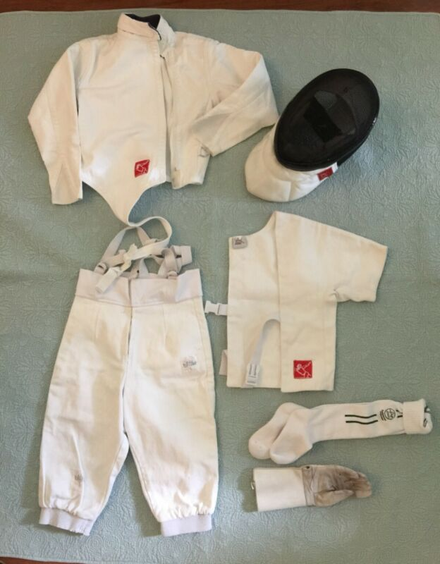 Fencing Equipment includes mask, tunic,vest, pants right hand glove socks