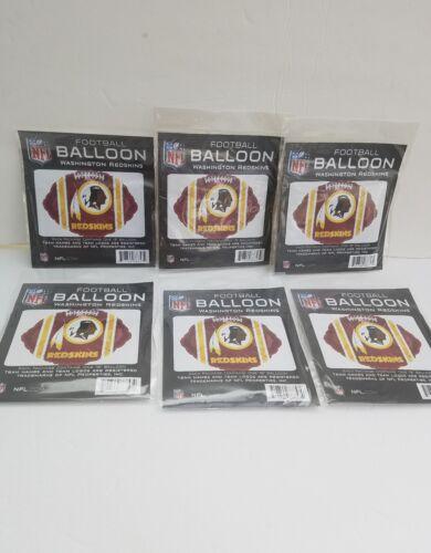 "Washington Redskins pk of 6 Football 18"" Balloon Birthday Pa"
