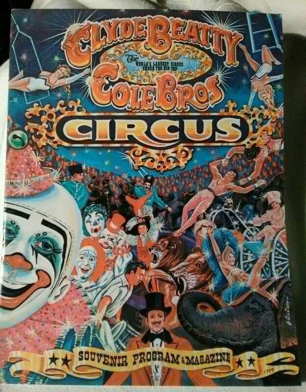 Super Rare Vintage 1979 Clyde Beatty Cole Bros Circus Souvenir Program Magazine