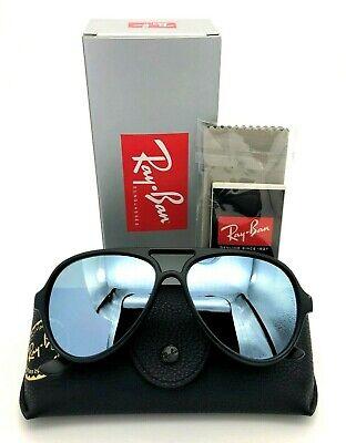 RAY BAN CATS 5000 Men Women pilot Sunglasses BLACK SILVER MIRROR 4125 601S30 59