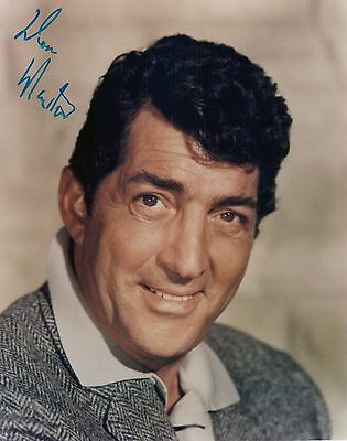 Dean Martin 8x10 Autographed Signed photo RP