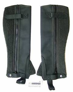 HALF CHAPS HORSE RIDING EQUESTRIAN BLACK WASHABLE AMARA – LARGE Elimbah Caboolture Area Preview