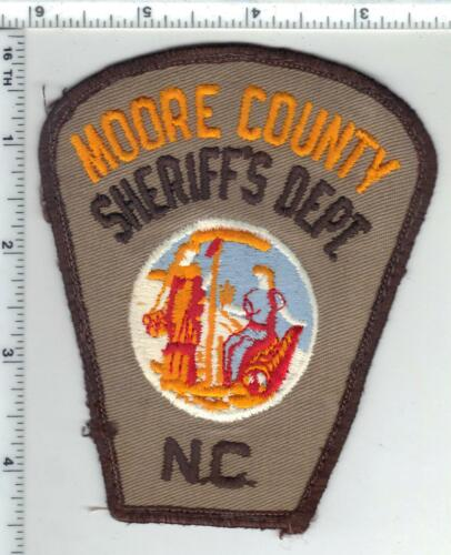 Moore County Sheriff (North Carolina) 2nd Issue Uniform Take-Off Patch